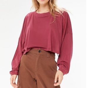 urban outfitters long sleeve crop top
